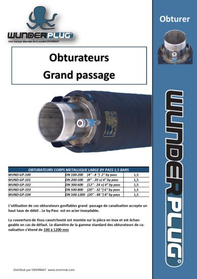 Obturateurs Grand passage WUNDERPLUG