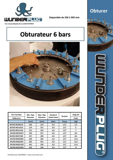 Obturateur HP 6 bars