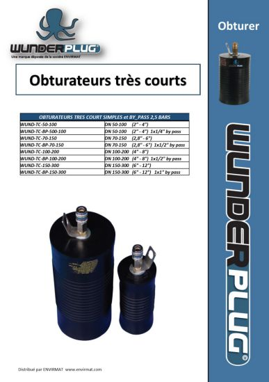 Obturateurs trés courts WUNDERPLUG