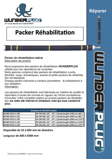 PACKER simple pour réabiitation